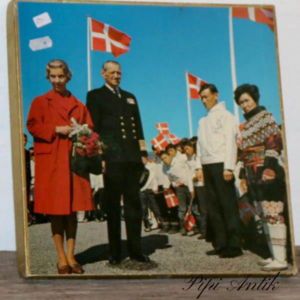 Puslespil kongeparret Fr og Ingrid på Grønland 30x30 cm
