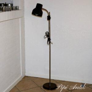 Brun standerampe i plast metal retro Ø6x125 cm i højden