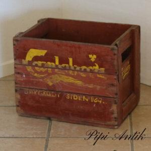 Carlsberg sodavandkasse ølkasse rød med gul skrift