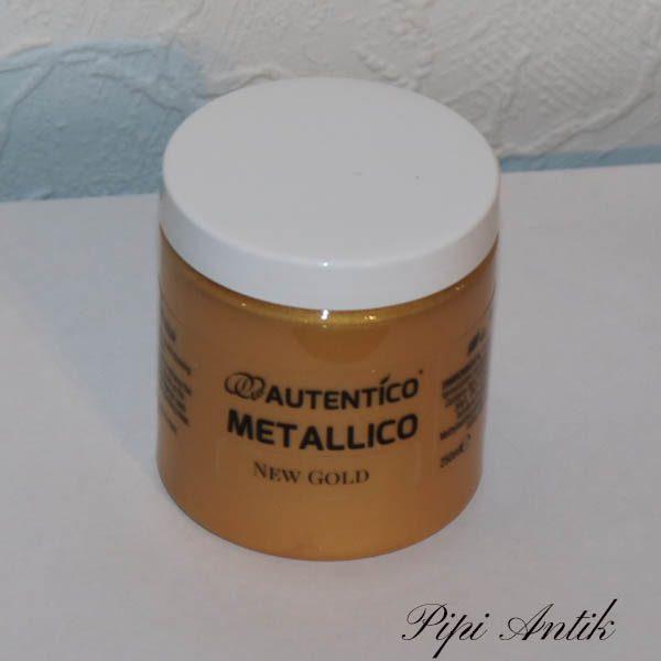 250 ml New Gold Metallic maling Autentico