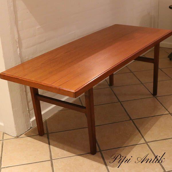 Teak sofabord i teak lige linjer stor L150xB61xH58 cm
