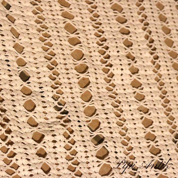 10 Junior sengetæppe hæklet hvidt B104xL182 cm