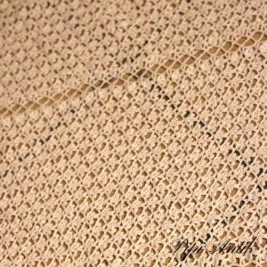 11 Hæklet hvidt sengetæppe B181xL170 cm