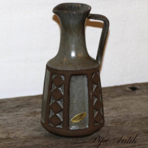 Frank keramik hankevase går brun Ø9x18 cm