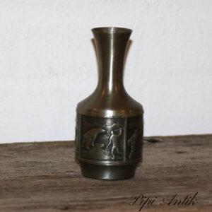 Tin vase grønlandske motiver Ø5x13cm