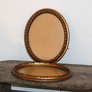 40 Ovale billed guldramme 41x32,5x3,5 cm