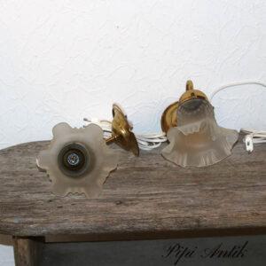 Væglamper messinglook et sæt Ø15x24 cm