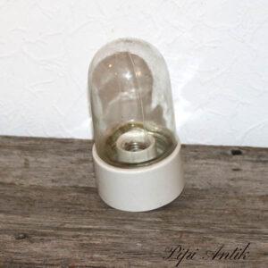 Retro væglampe porcelæn Ø10,5x21 cm