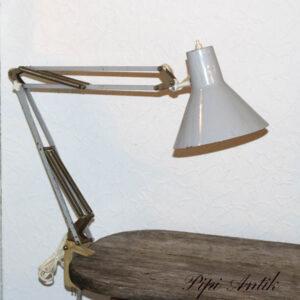 65 Arkitektlampe grå metal patineret Ø18 skærm