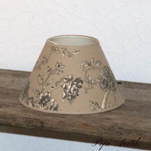 Lampeskærm til lille rund fatning beige toner Ø25x16 cm