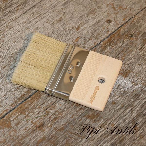 80 mm flad pensel med 40 mm fladt træ håndtag