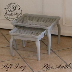 Småborde til planter eller andet i Soft Grey L42xB33xH30 cm den største