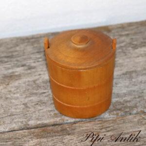 Trææske med tøndelook Ø7x7 cm H