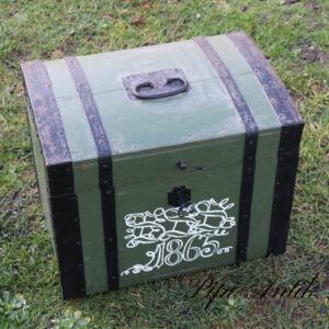 Mini kiste fra 1865 grøn L45,5xB32xH35 cm