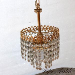 Krystallampe lille retro Ø18x27 cm H