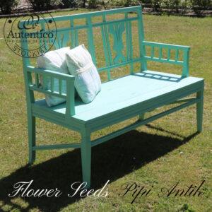 Flower Seeds udestue veranda bænk svensk L127xB53xH92 cm 43 sædet