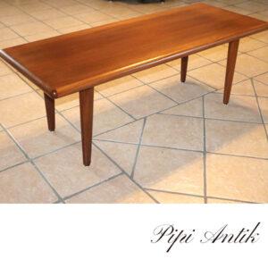 Teak sofabord med buttet ben L146xB57xH53 cm