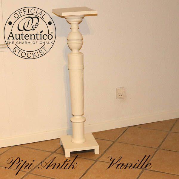 Vanille piedstal 24x24 toppladen x 101 cm H Autentico kalkmaling