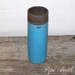 Keramikvase tyrkis naturfarvet Sthrehle Import Ø8x22 cm