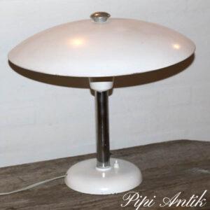 Max Schumacker, Schroder Lobenstein, Bauhaus, Art Deco bordlampe hvid Ø45xH40 cm