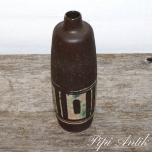 Strehle keramikvase brun beige Ø7x21 cm