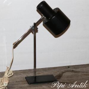 09 S svensk retro arbejdslampe sort Mærke 2067A Fod 15x10xH40 cm