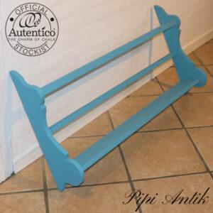 Tallerkenrække lyseblå Autentico L101xH50xD11,5 cm