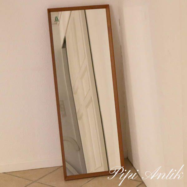 Teak spejl AG kobberbeskyttelse B43xH118xD3,5 cm