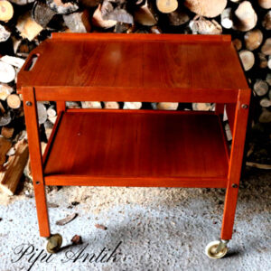 Retro rullebord med klap L70xB46xH64cm + 25 cm klap