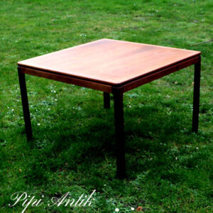 Teak retro sofabord Folke Ohlsson Florida kvadratisk L86xB84xH56 cm