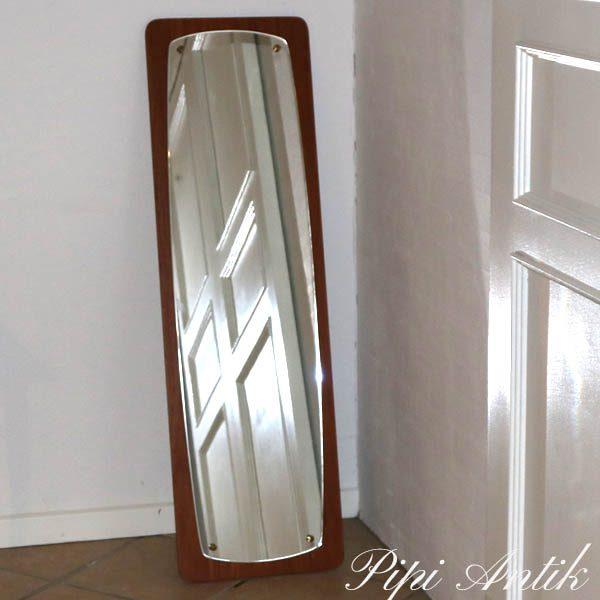 16 Retro stor spejl teak spejl B35xH120 cm