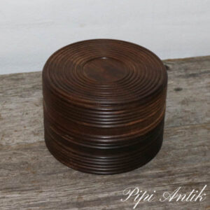 Palisander æske tung Ø10,5xH16 cm