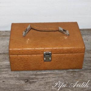 Retro smykke taske i læder L27xB17xH11 cm