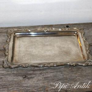 31 Sølvplet bakke L35xB25xH2 cm