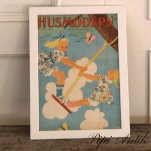 01 Husmodern forside nr 27 1937 illustration A4 IKEA ramme