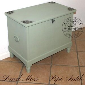 Kiste 1947 med 2 skuffer inde i kisten Dried Moss Autentico L74x44,5xH62 cm
