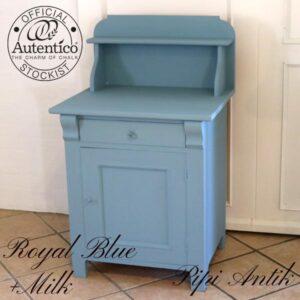 Toiletbord med hylder L63x61x103 cm Royal Blue Milk Autentico