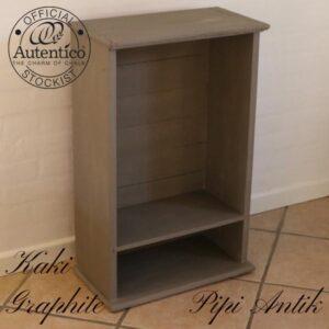 Kaki graphite gulvhylde kan hænges op B49xD26H76 cm