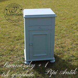 Toilletbord potteskab i Summersky Graphite Autentico B49,5xD41xH80 cm
