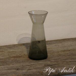Hyacint glas røgfarvet Ø7,5x20 cm