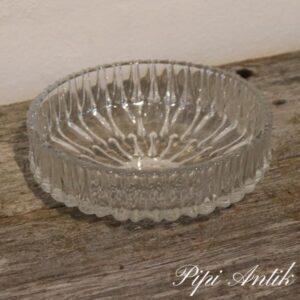 Dessertskål i presset glas retro Ø20xH7 cm