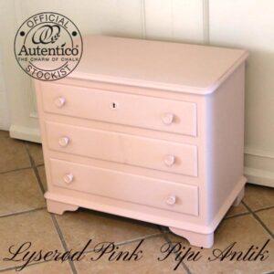 Lyserød kommode Pink Autentico L65xD38xH58 cm