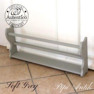 Tallerkenrække 1980érne Soft Grey Autentico L89,5xD14xH37 cm