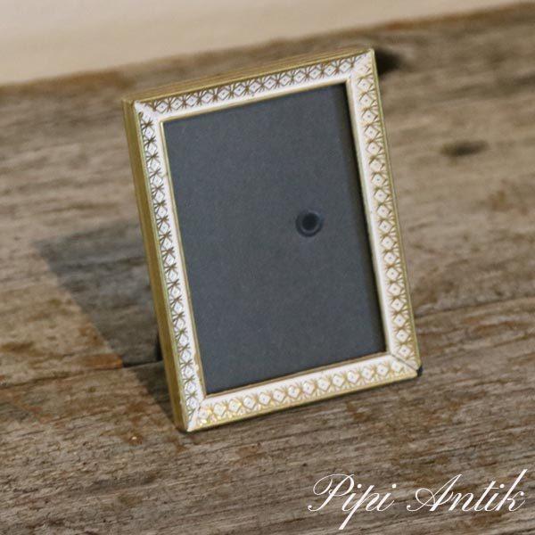 19 Fotoramme retro romantisk hvid guld look B6xH8 cm