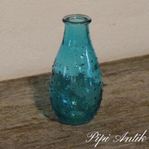 Tyrkis pingsvin vase nyere Ø6x14 cm