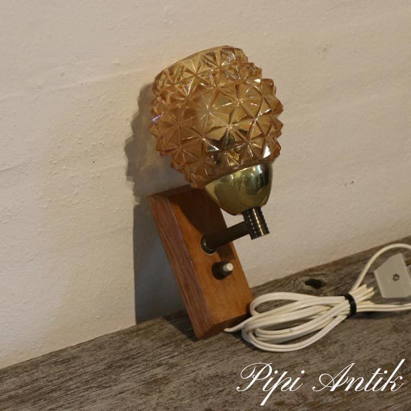 Buttet retro teak lampe H19xB5xD13 cm