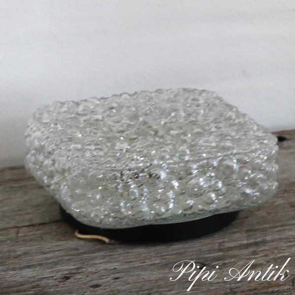 Retro glas loftlampe med bobler 23x23xH11 cm