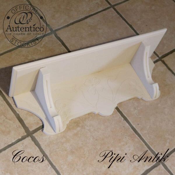 Cocos lille dyb hylde med bloster motiver L63dD18,5xH19,5 cm