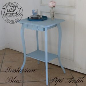 Gustavian Blue minibord Autentico kalkmaling L53x40x75 cm