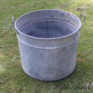 03 Zink kumme til orangeri mm Ø45,5xH36 cm